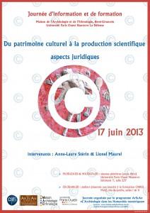 Affiche d'AspectsJuridiques. MAE-17-06-2013
